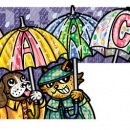 Raining on Cats and Dogs, Clients: Disney Adventures Magazine