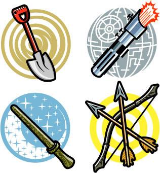 Movie Prop Icons, Client: Disney Adventures Magazine