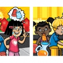 Case of the Watery Popsicle Ilustration, Client: Scholastic