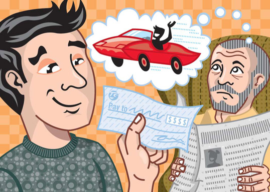 Yoder & Son Column-Saving Income, Client: The Wall Street Journal