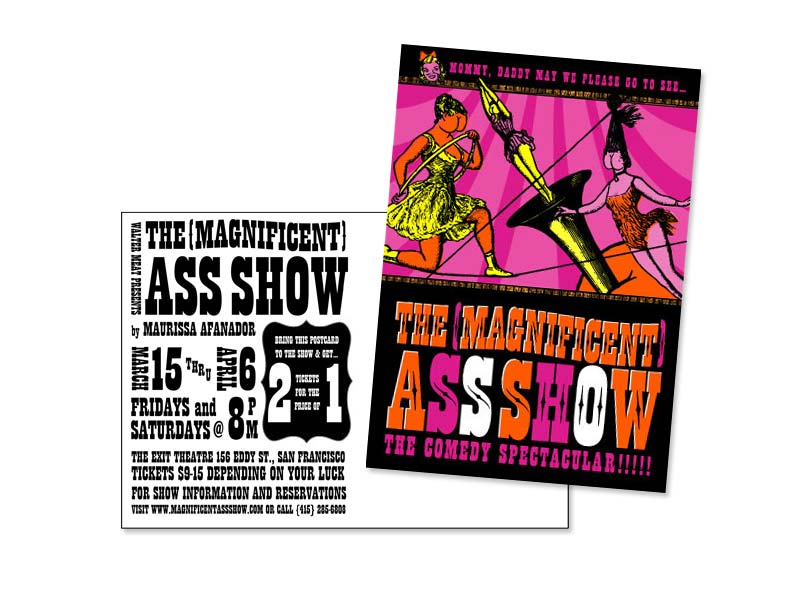 Postcard Promotion for Theater, Client: Walter Meat Productions