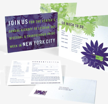 Invite for Garden Party 18, Client: The LGBT Community Center