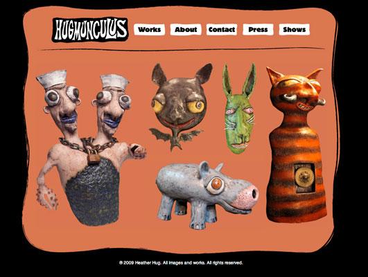Website Design, Client: Heather Hug