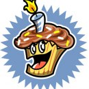Happy Birthday Cupcake Icon, Client: Disney Adventures Magazine