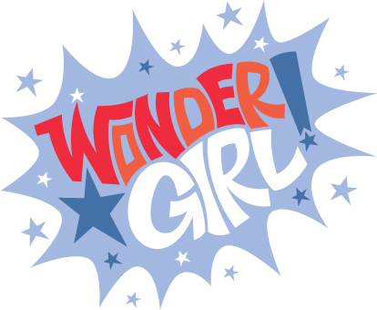 Wonder Girl Masthead Graphic, Personal Work