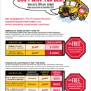 Promotional flyer with tables, CLIENT: The Princeton Review
