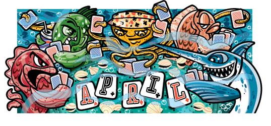 April Calendar Art, Client: Disney Adventures Magazine
