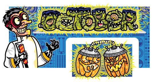 October Calendar Art, Client: Disney Adventures Magazine