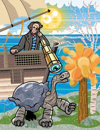 Darwin Discovers the Galapagos Islands, Client: Scholastic