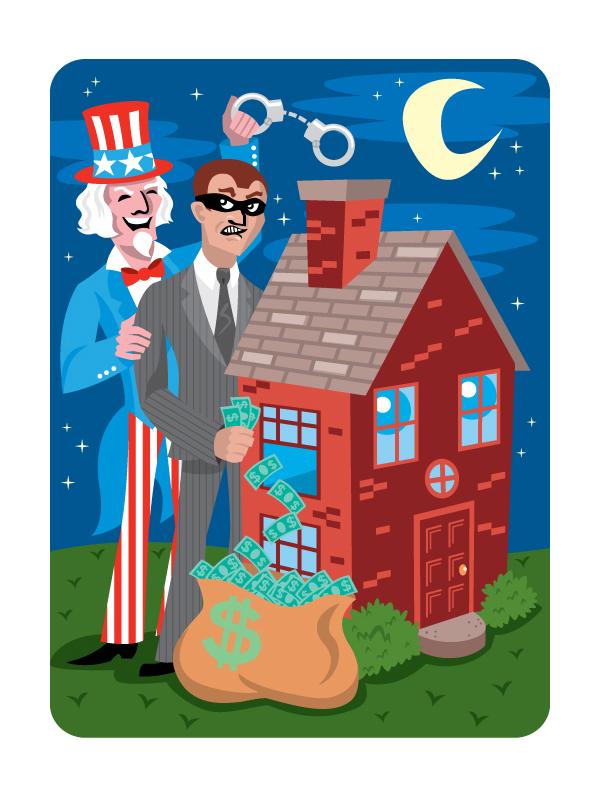 Banker Stealing from a Home, CLIENT: Wall Street Journal