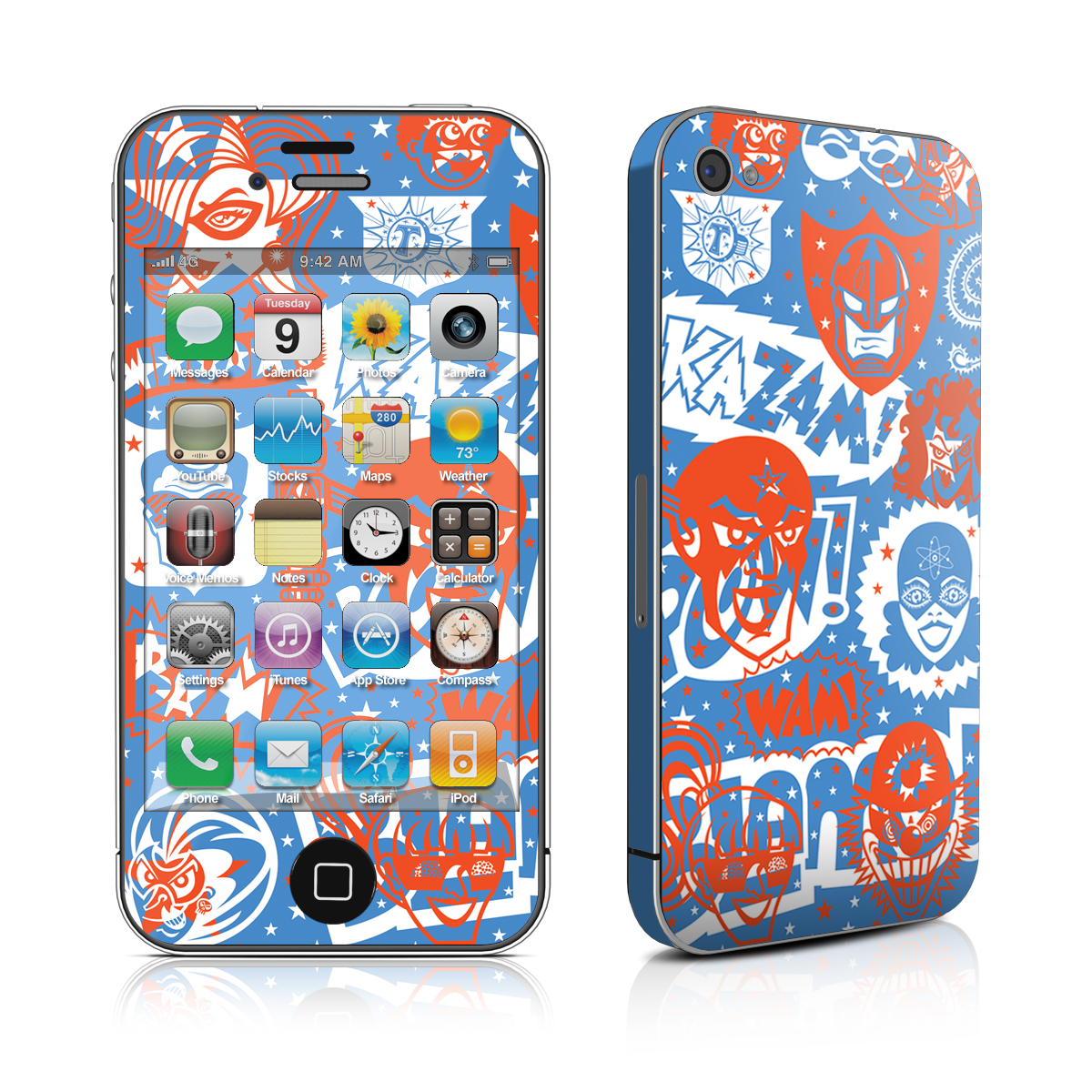 Comic Hero Skin for iPhone4 and iPhone 4S