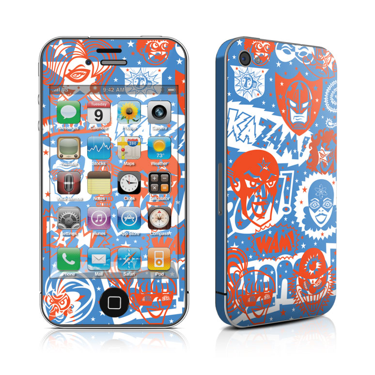 comic_hero_iphone_4_4s_skin_matte_finish