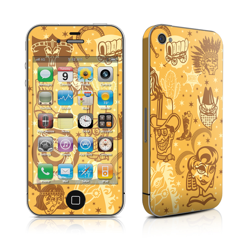 wild_west_iphone_4_4g_skin_matte_finish